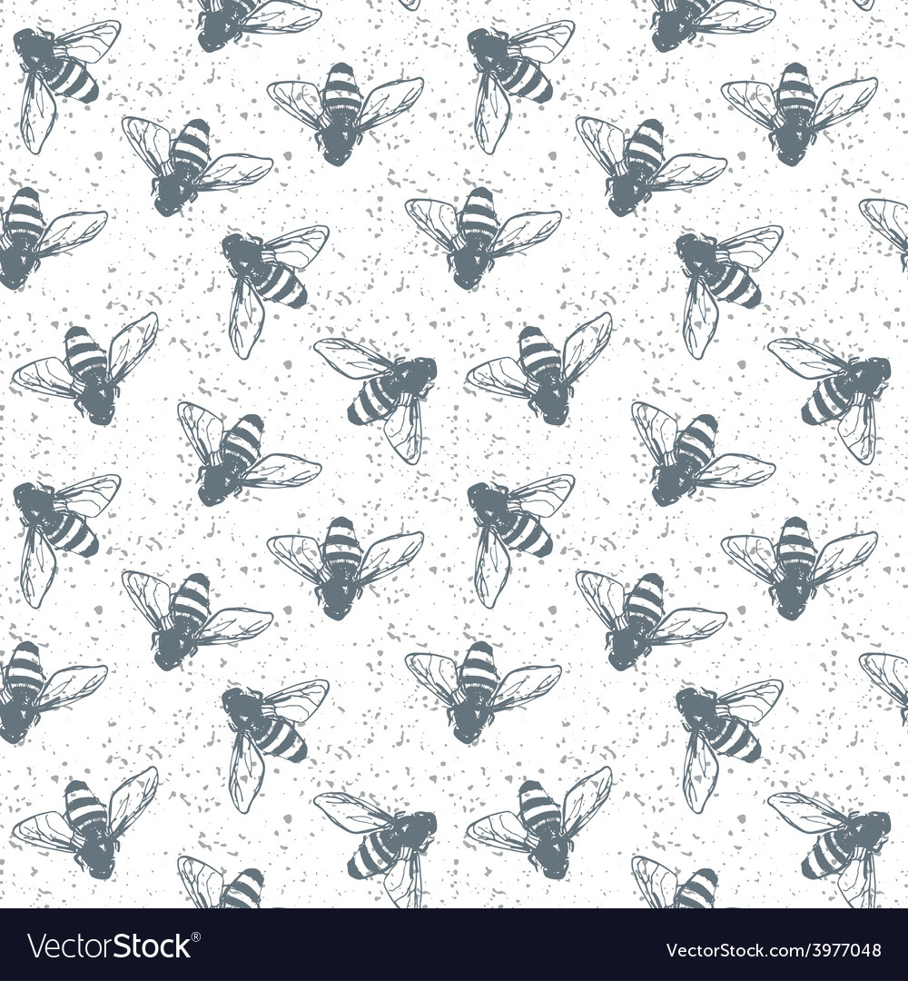 Grunge seamless pattern with insects vector | Price: 1 Credit (USD $1)