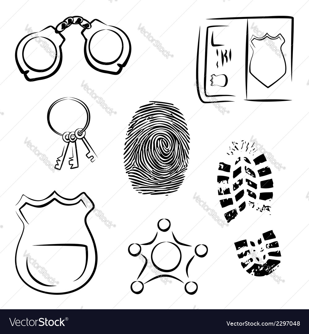 Investigation icons vector | Price: 1 Credit (USD $1)