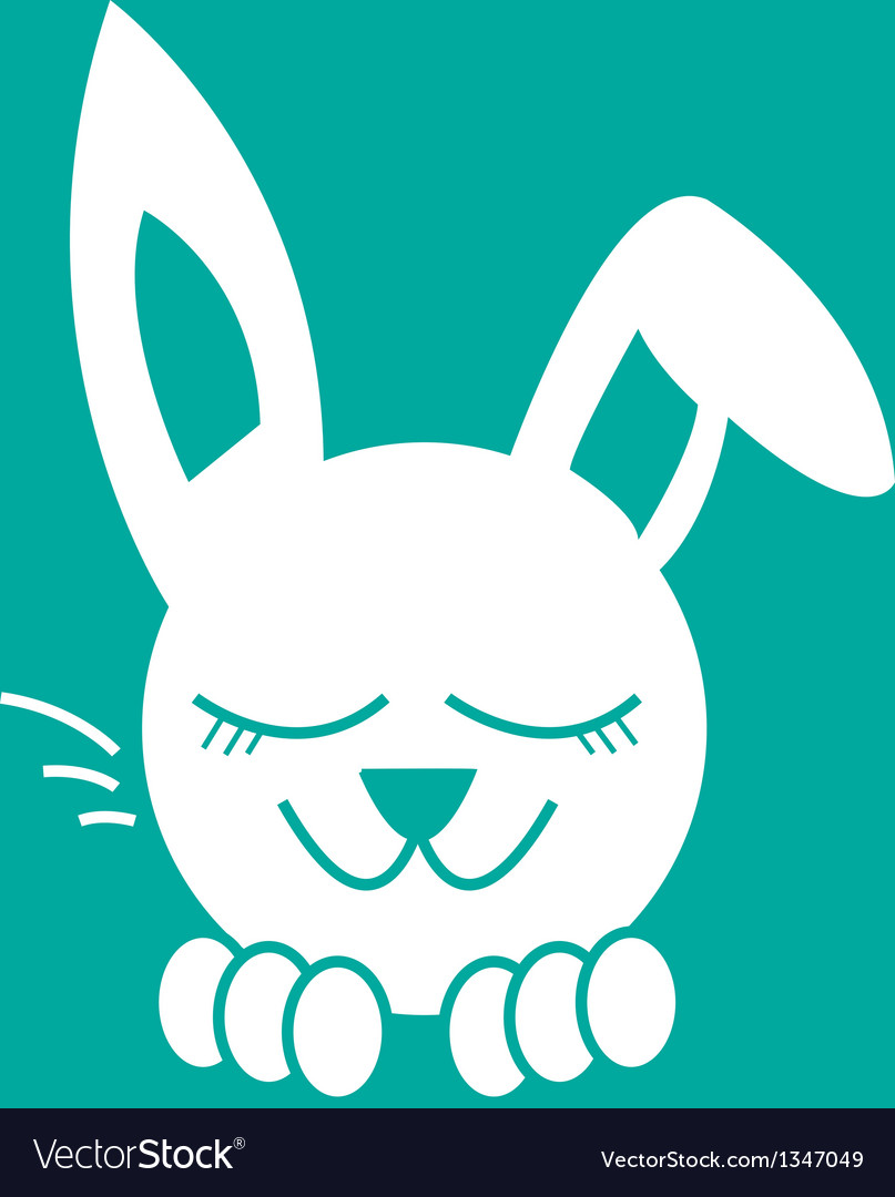 Bunny dreaming vector | Price: 1 Credit (USD $1)