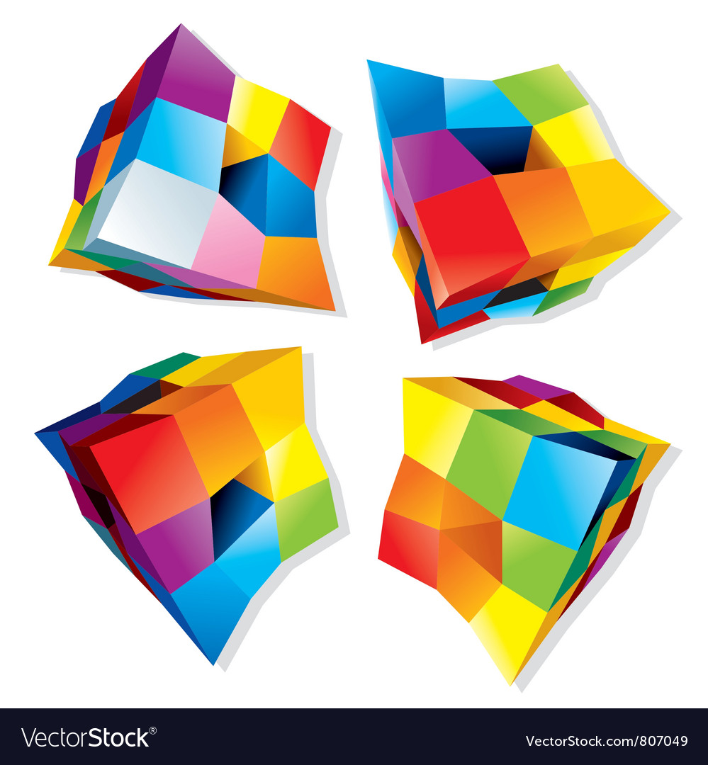 Colored cube logos vector | Price: 1 Credit (USD $1)
