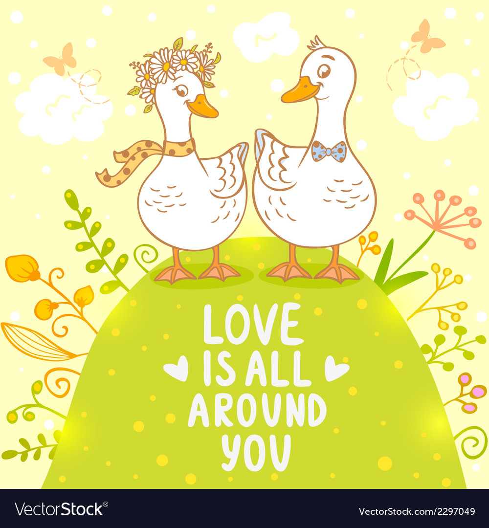 Ducks cute vector | Price: 1 Credit (USD $1)