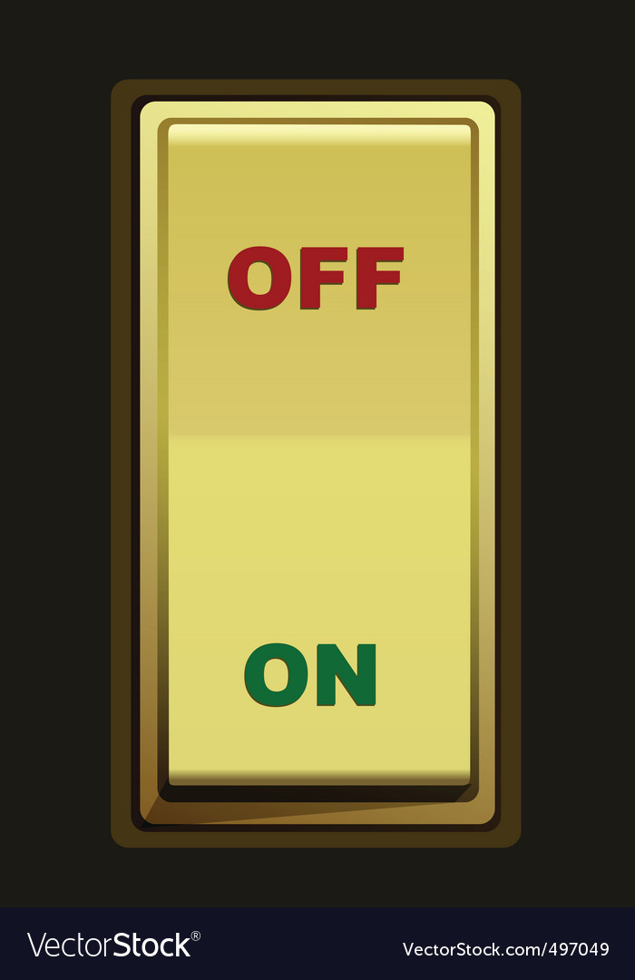 Electric switch vector | Price: 1 Credit (USD $1)