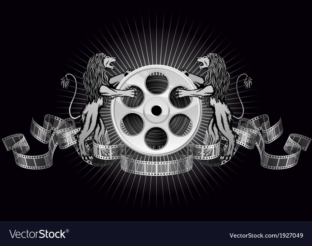 Film reel with lions vector | Price: 1 Credit (USD $1)