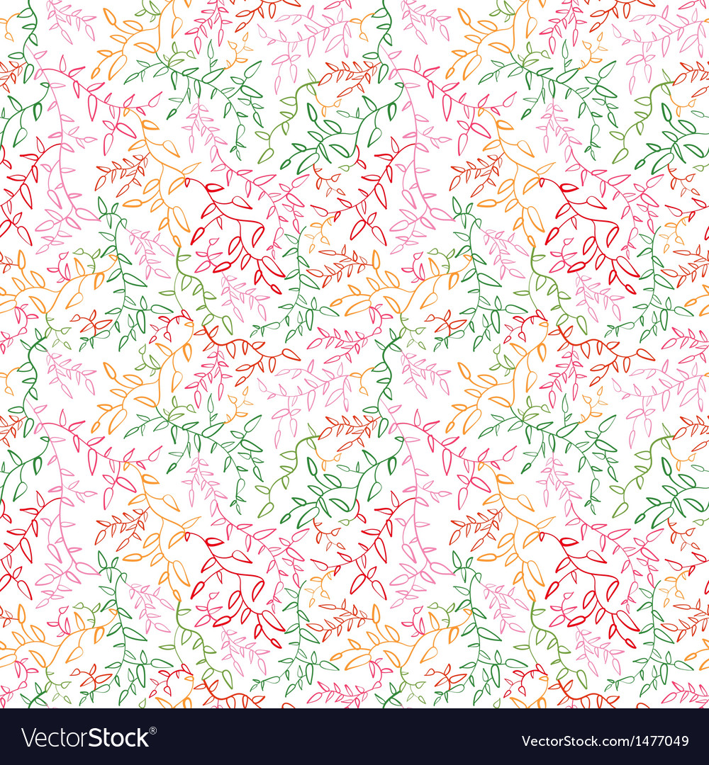 Floral seamless pattern with leaf vector | Price: 1 Credit (USD $1)