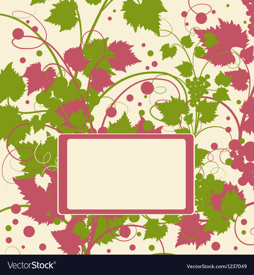 Grape background frame vector | Price: 1 Credit (USD $1)