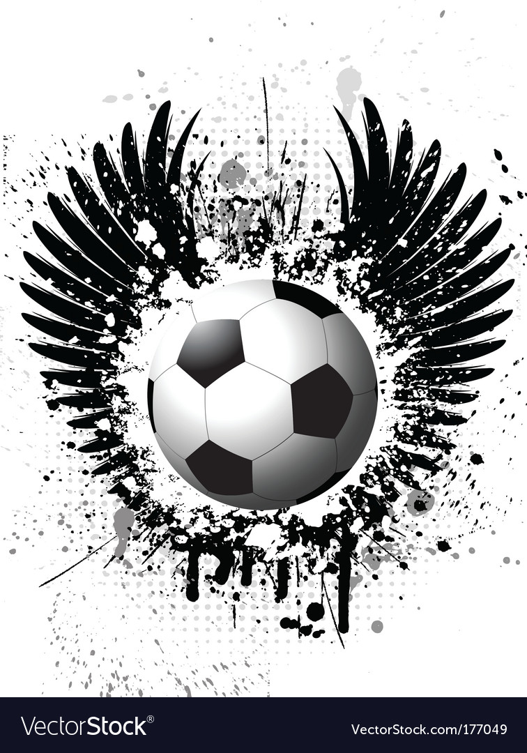Grunge football background vector   Price: 1 Credit (USD $1)