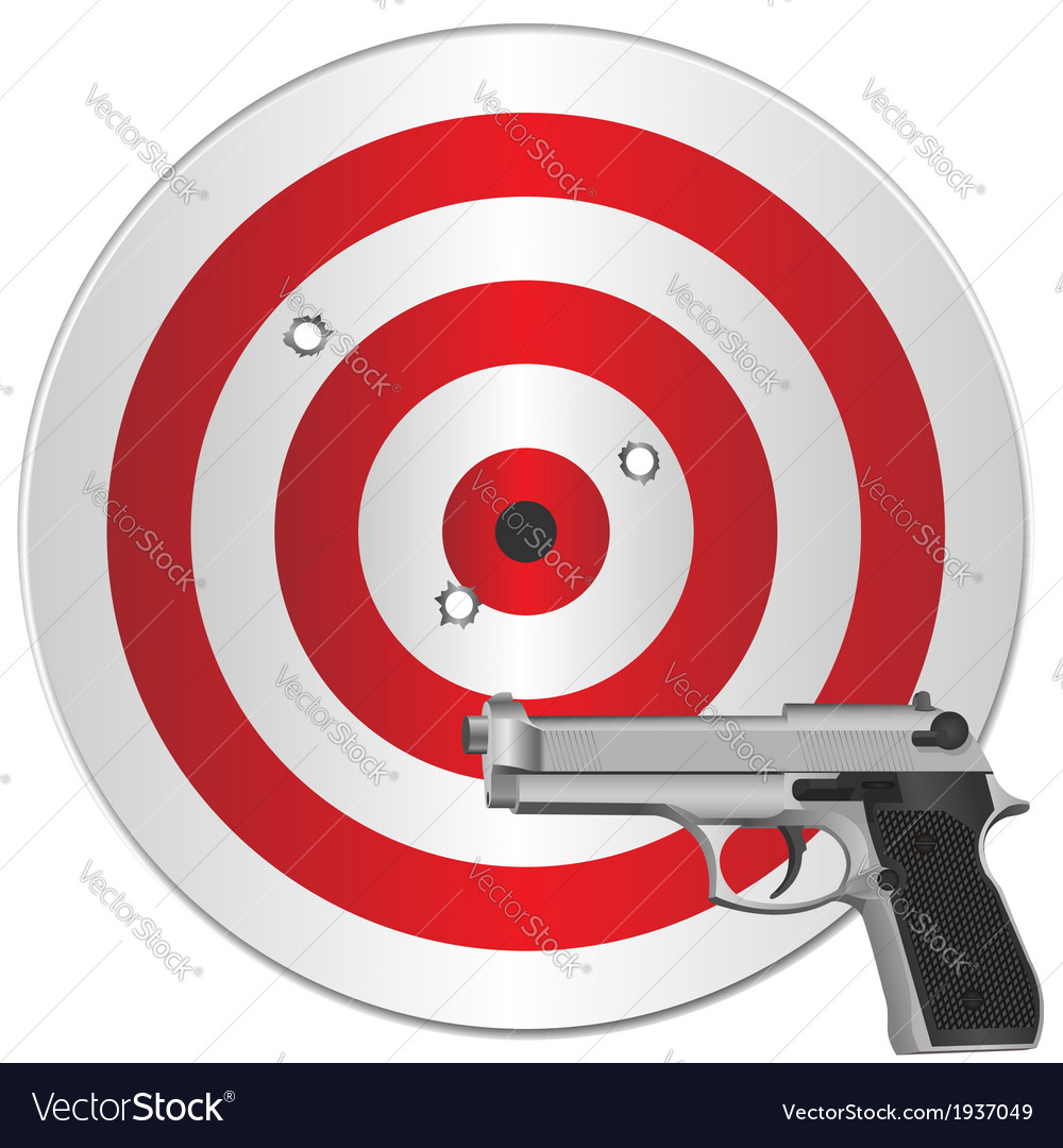Gun and target vector | Price: 1 Credit (USD $1)