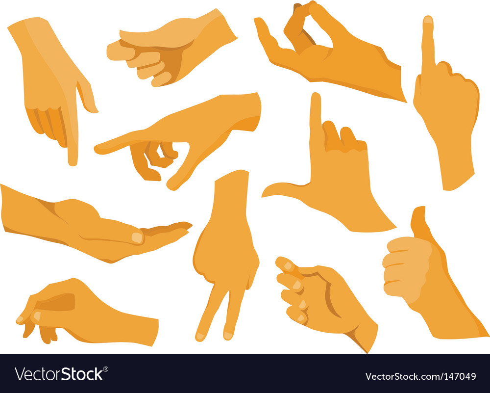 Hand silhouettes vector | Price: 1 Credit (USD $1)