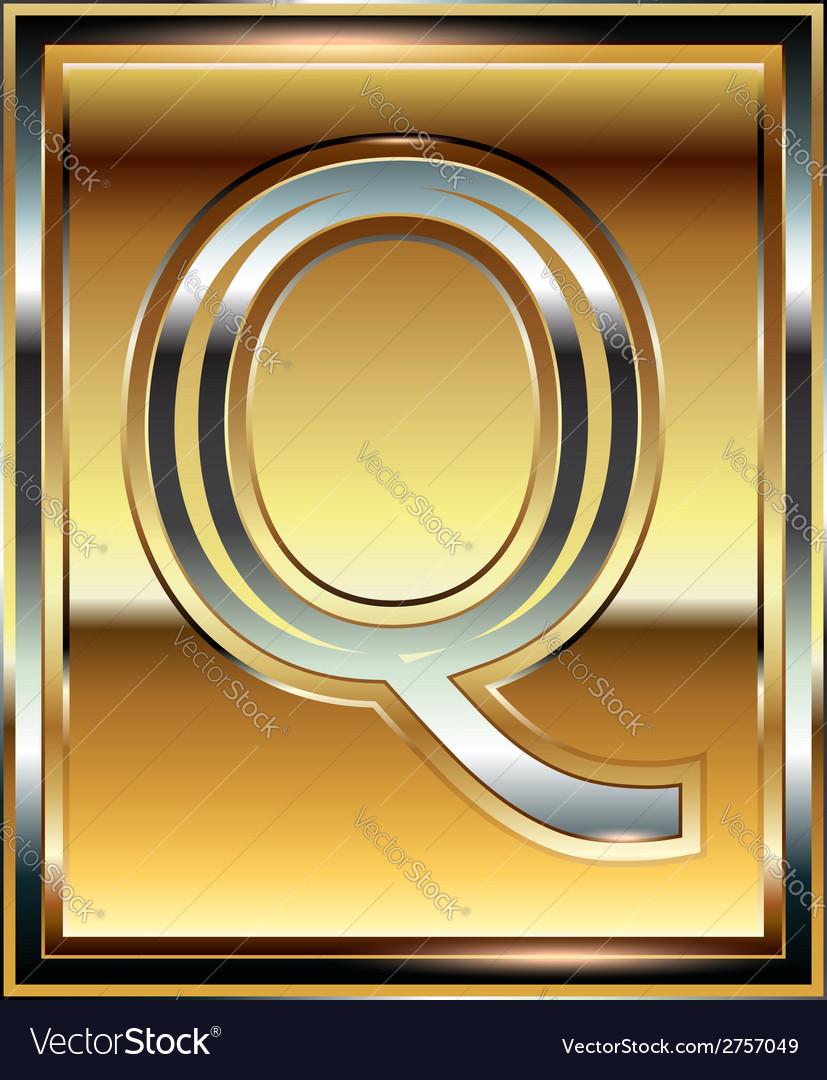 Ingot font letter q vector | Price: 1 Credit (USD $1)
