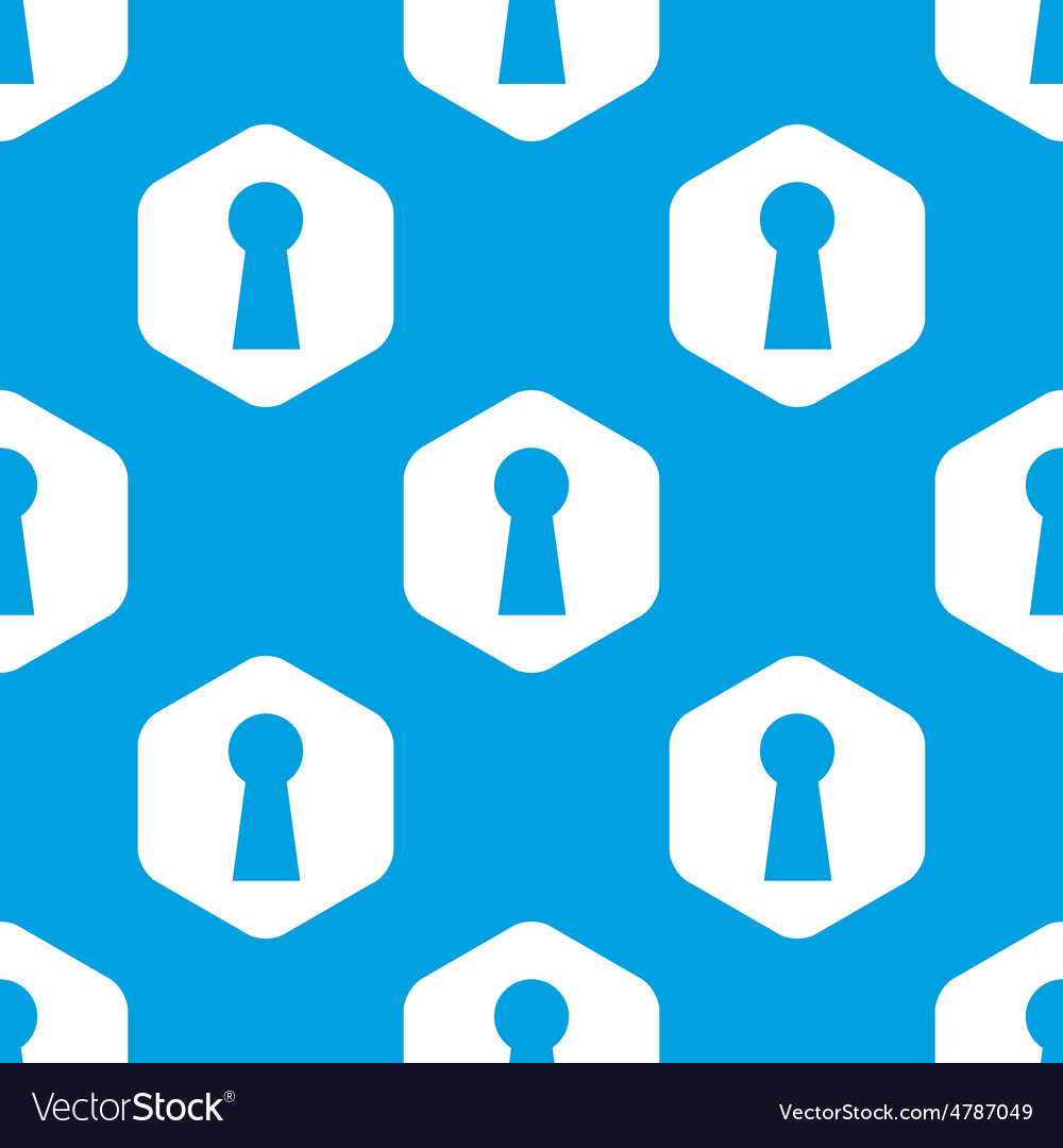 Keyhole hexagon pattern vector | Price: 1 Credit (USD $1)