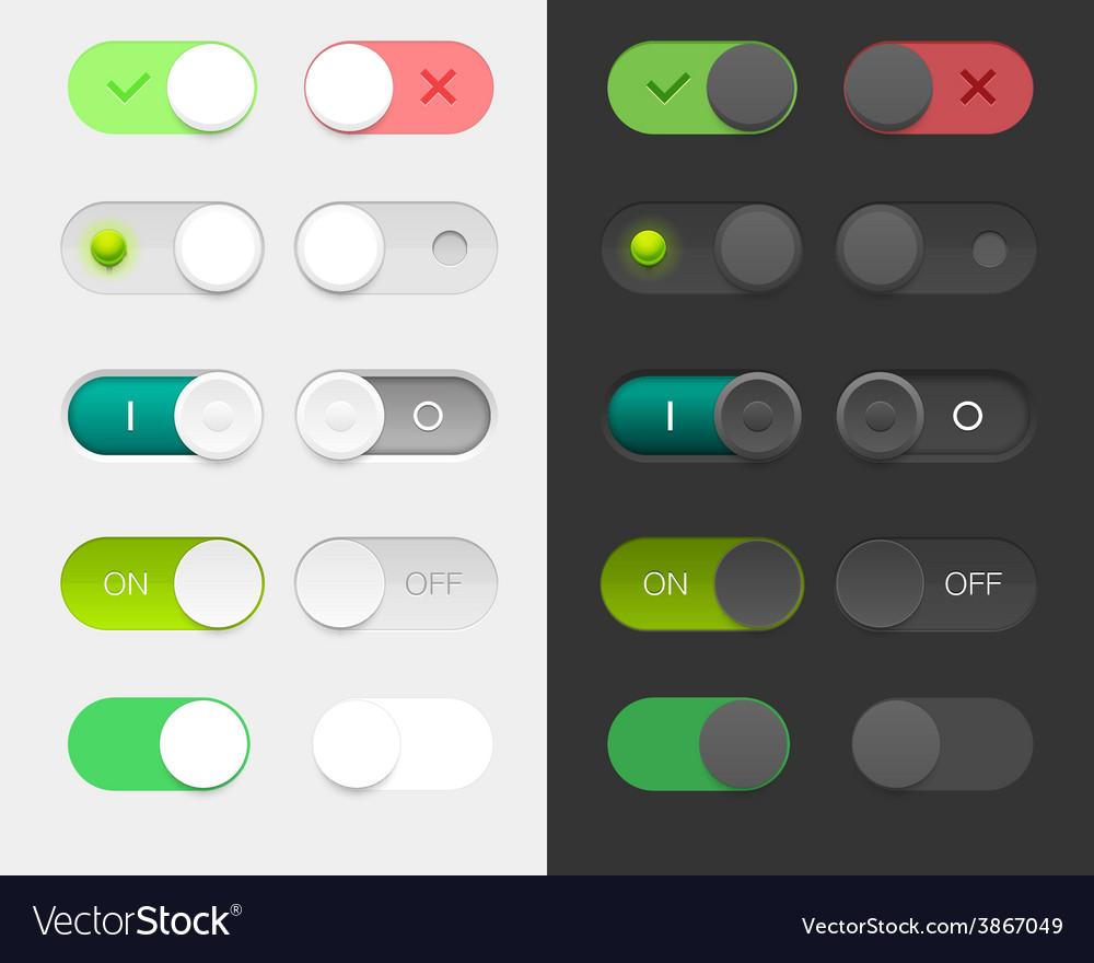 Round switchers set vector | Price: 1 Credit (USD $1)