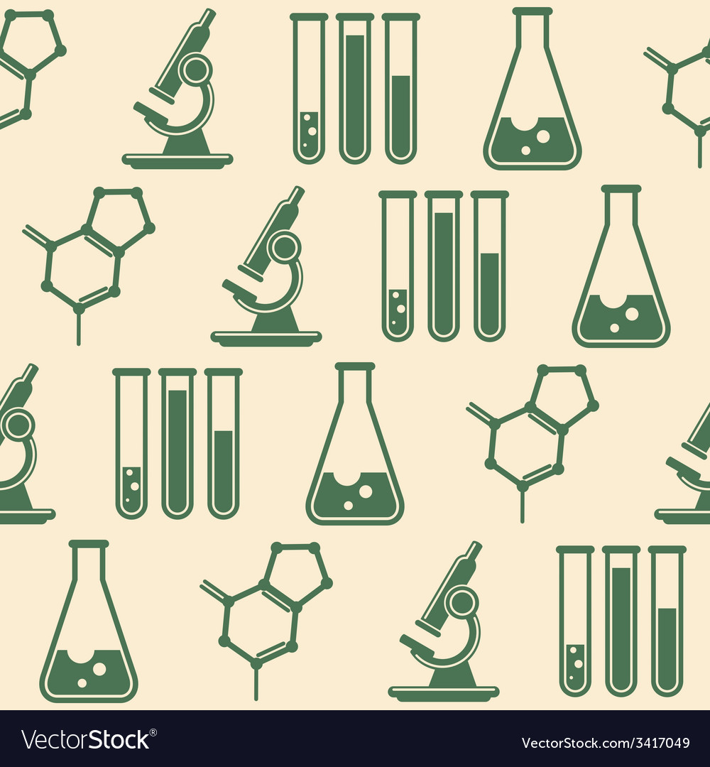 Seamless background with laboratory equipment vector | Price: 1 Credit (USD $1)