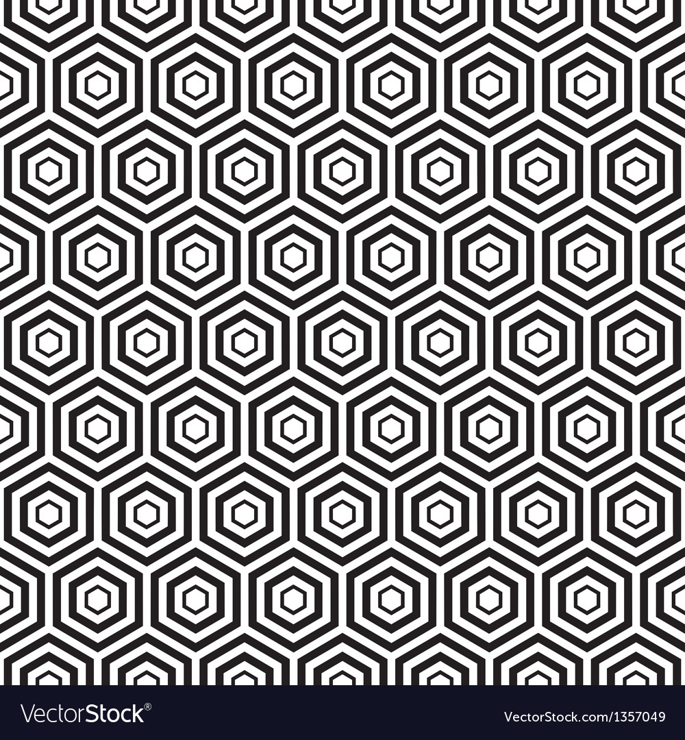 Seamless black hexagon pattern background vector | Price: 1 Credit (USD $1)