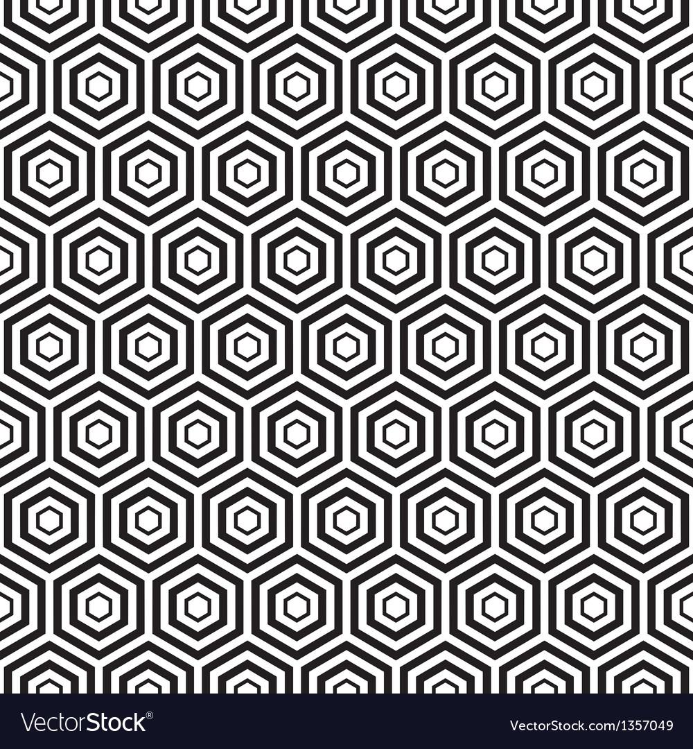 Seamless black hexagon pattern background vector | Price: 1 Credit (USD $1)