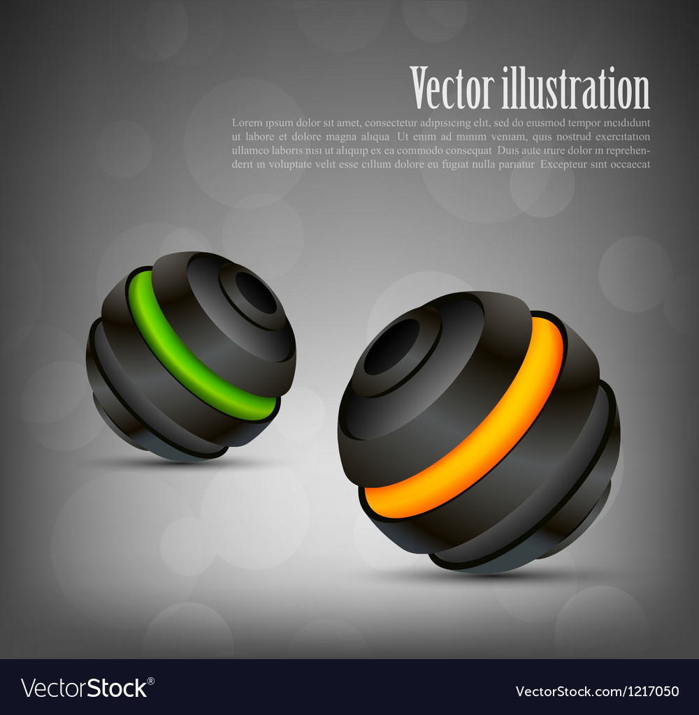 Background with two spheres vector   Price: 1 Credit (USD $1)