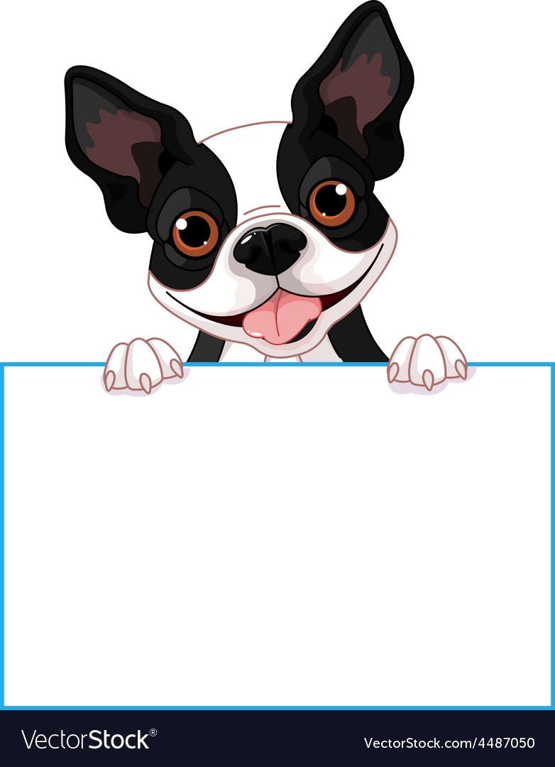 Boston terrier sign vector   Price: 3 Credit (USD $3)