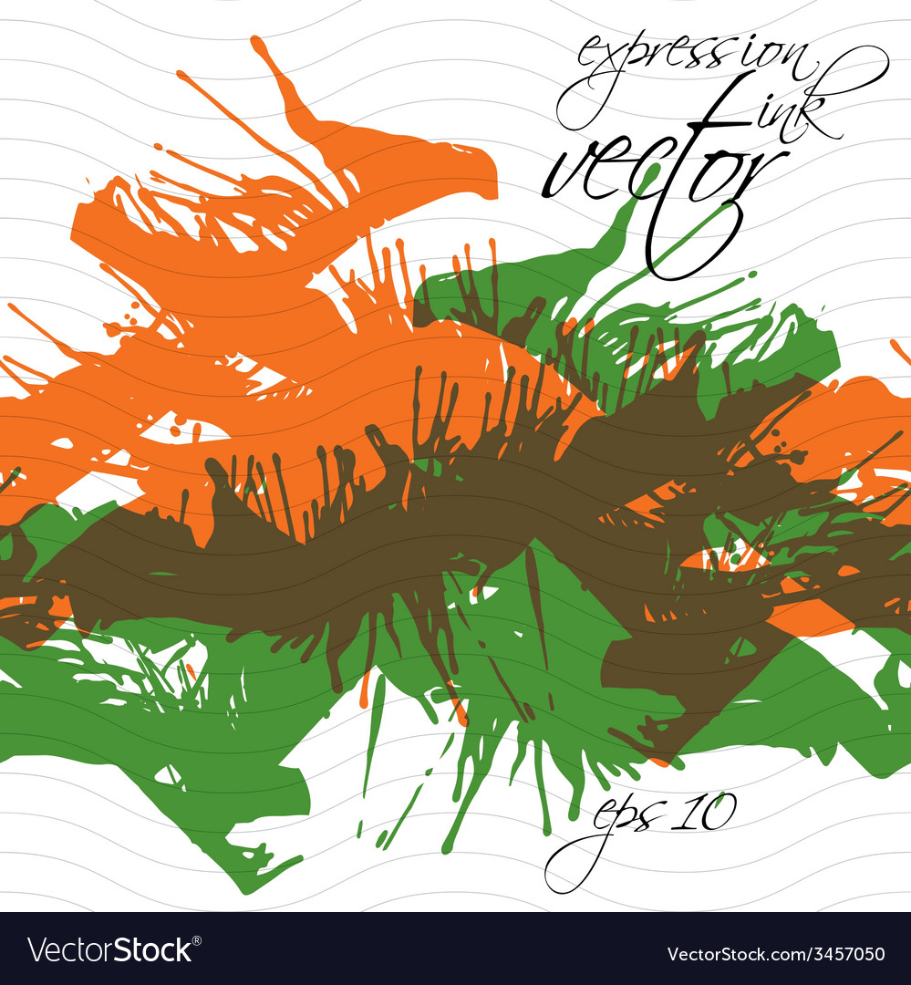 Colorful watercolor graffiti splash overlay vector | Price: 1 Credit (USD $1)