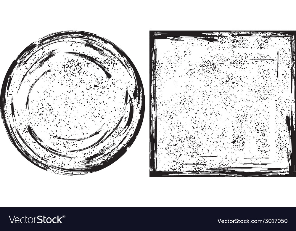 Grunge round and square frames texture vector | Price: 1 Credit (USD $1)