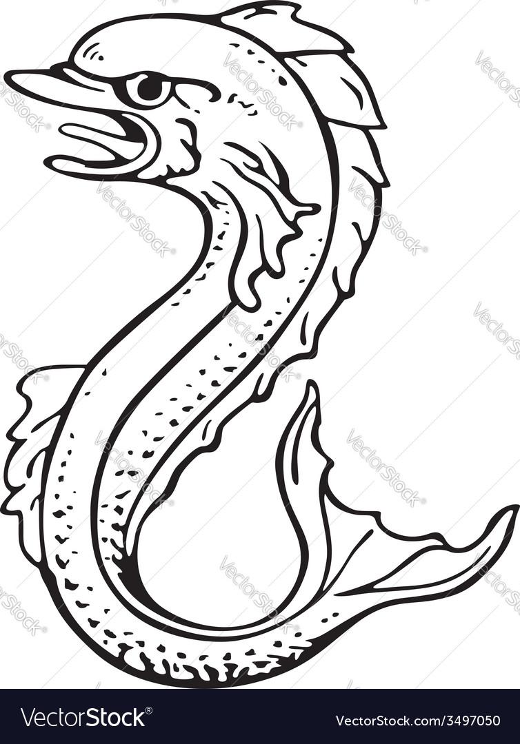 Heraldic dolphin no2 vector | Price: 1 Credit (USD $1)