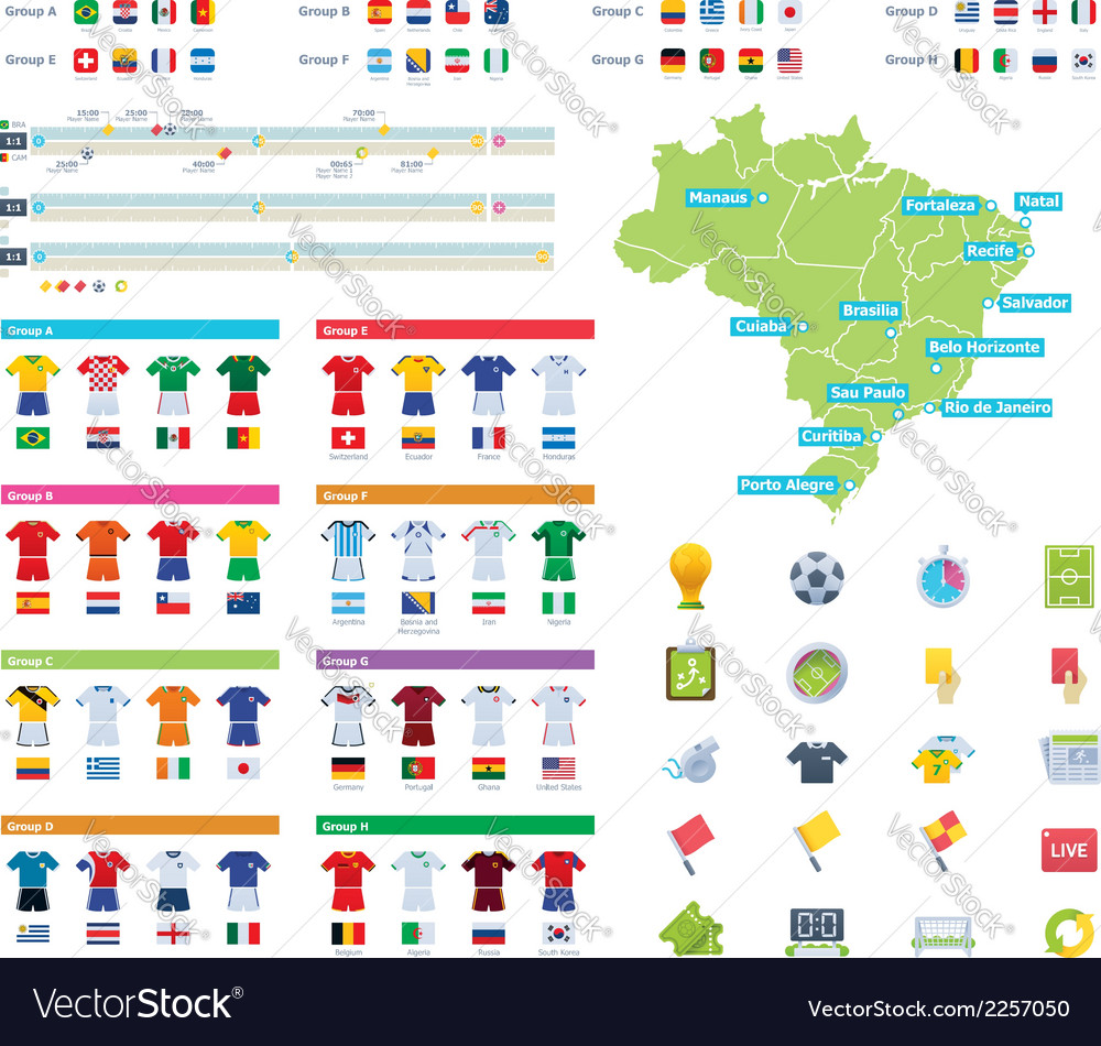 Soccer championship infographic elements vector | Price: 1 Credit (USD $1)