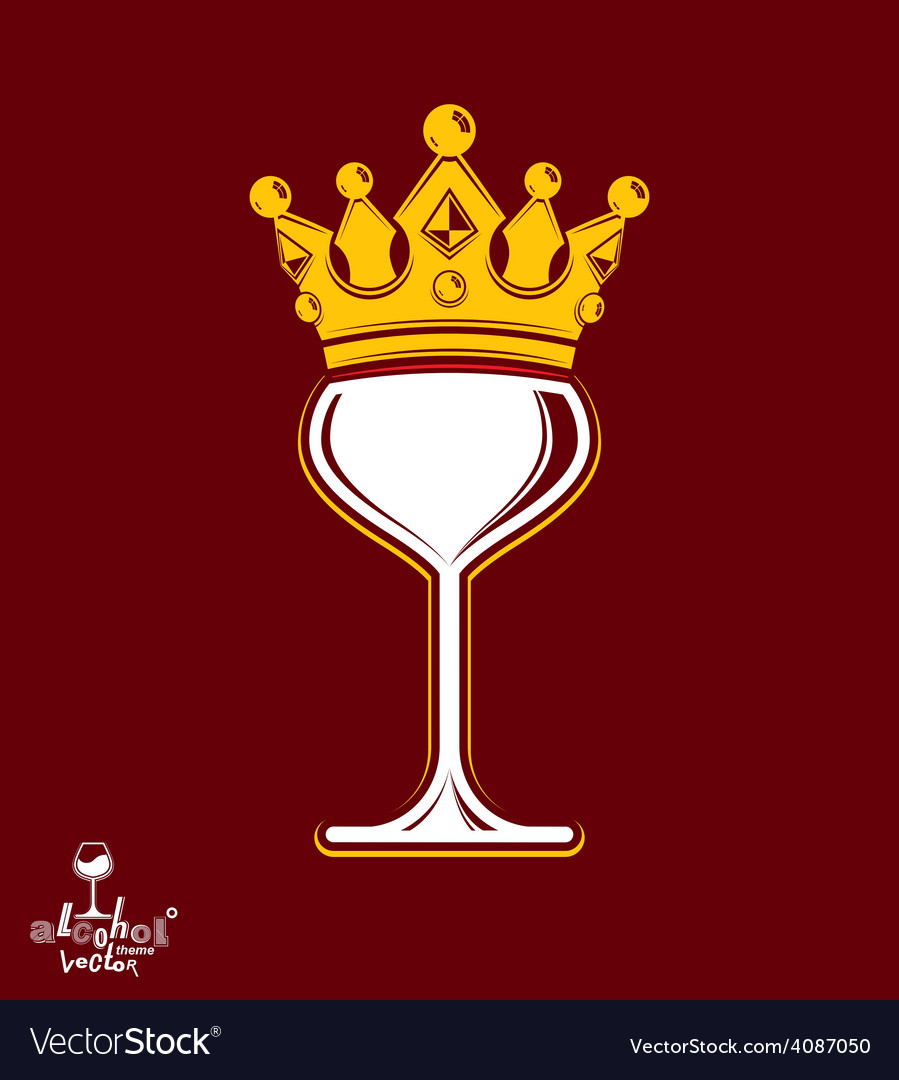 Sophisticated luxury wineglass with golden vector   Price: 1 Credit (USD $1)