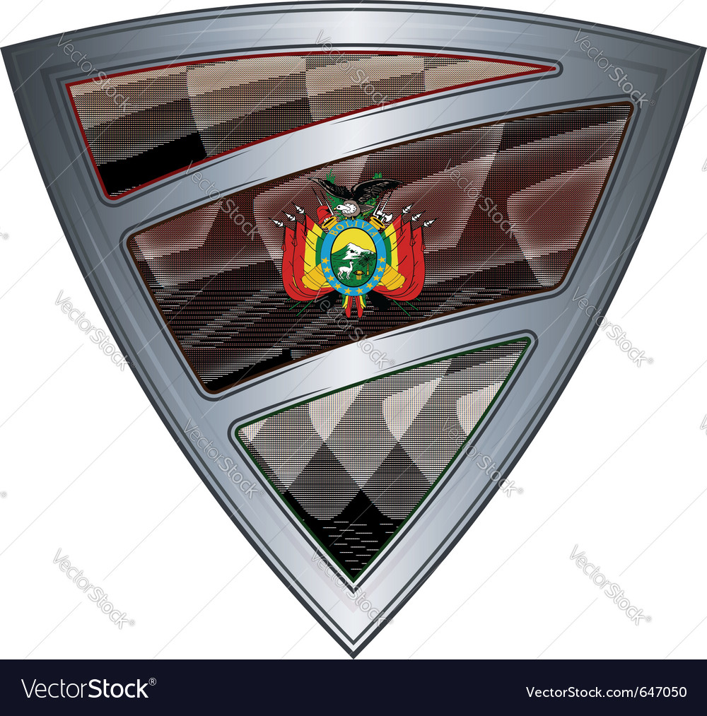 Steel shield with flag bolivia vector | Price: 1 Credit (USD $1)