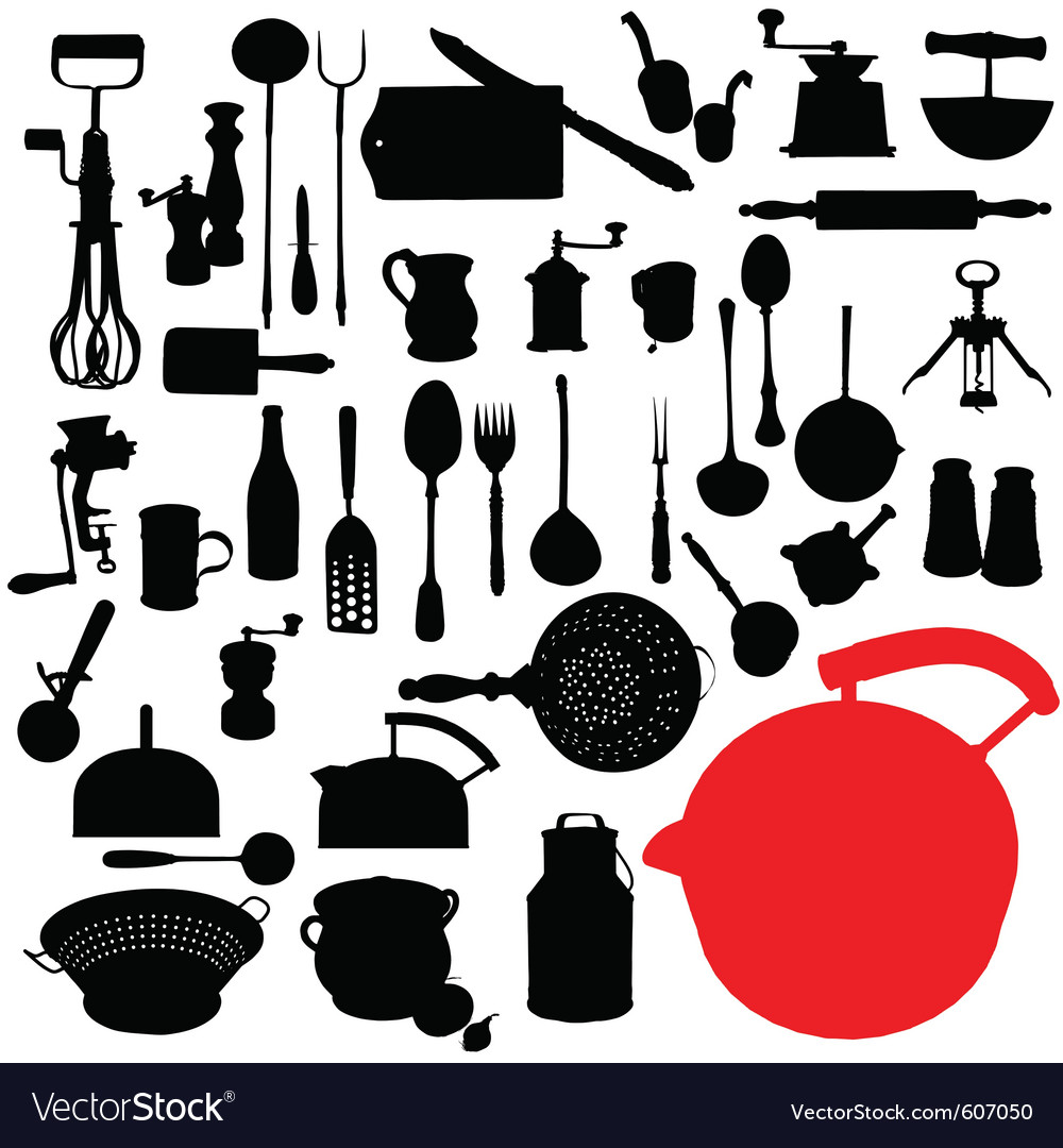 Traditional kitchen tools vector | Price: 1 Credit (USD $1)