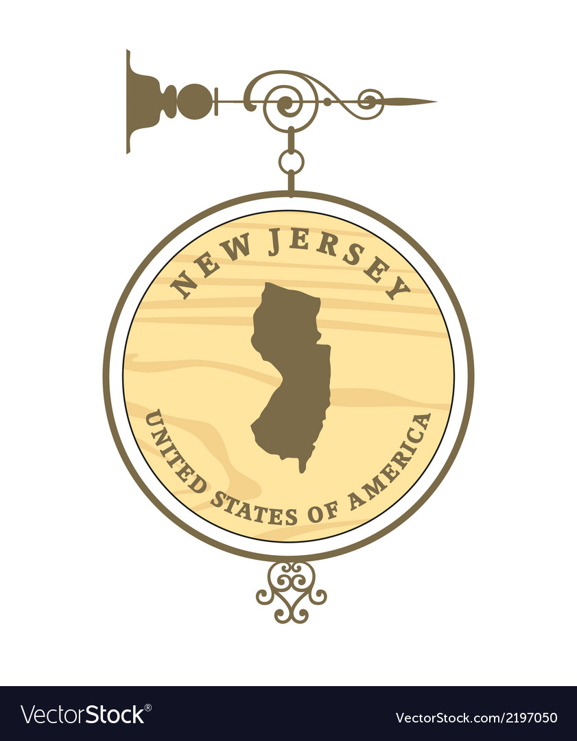 Vintage label new jersey vector | Price: 1 Credit (USD $1)