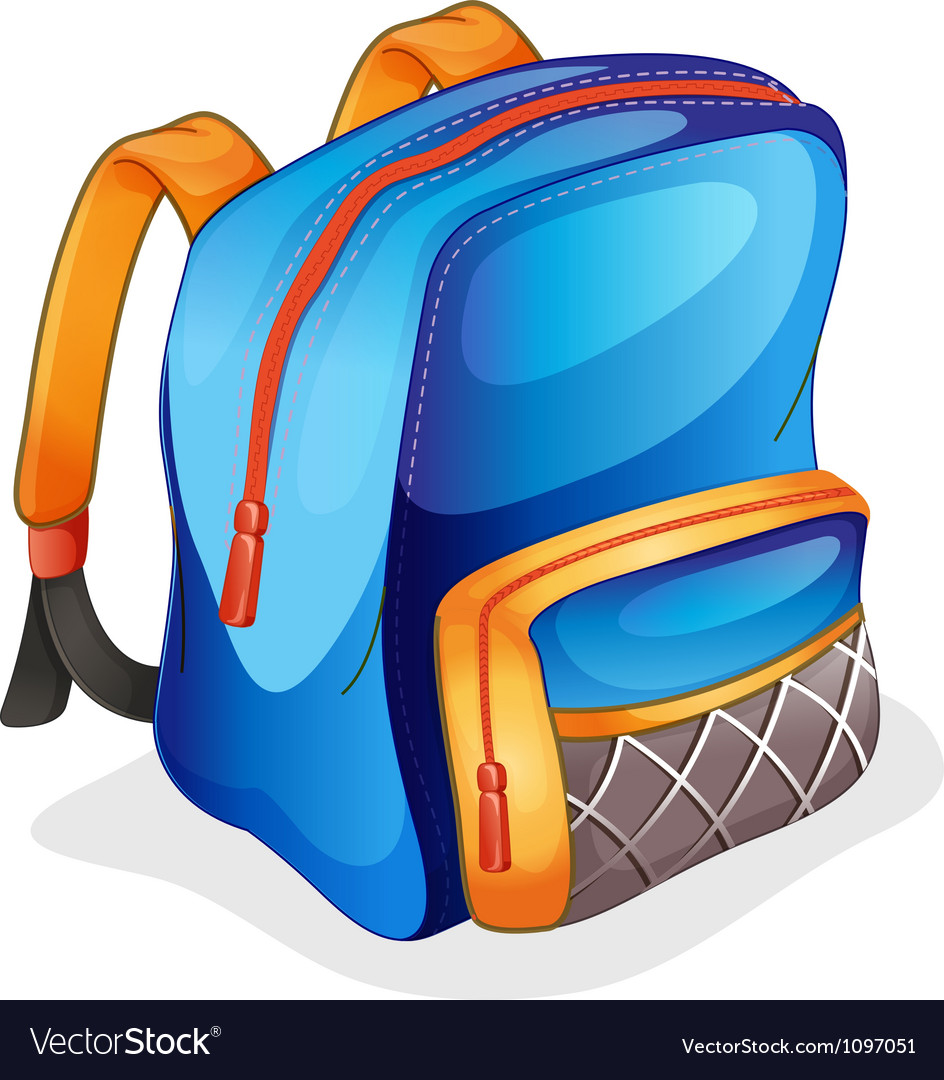 A school bag vector | Price: 1 Credit (USD $1)