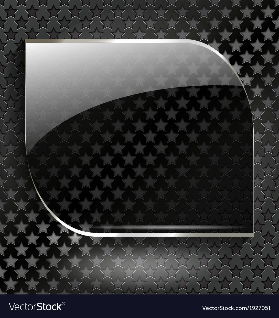 Abstract black background with glass element-frame vector | Price: 1 Credit (USD $1)