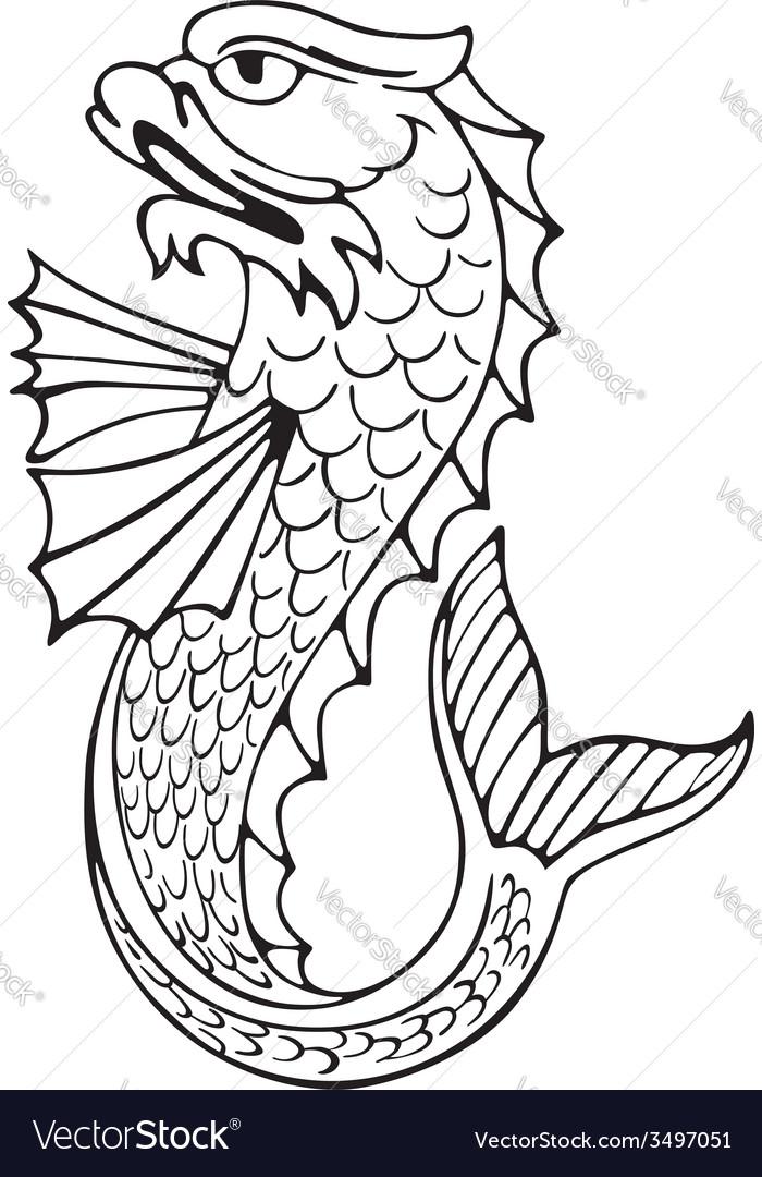 Heraldic dolphin no3 vector | Price: 1 Credit (USD $1)