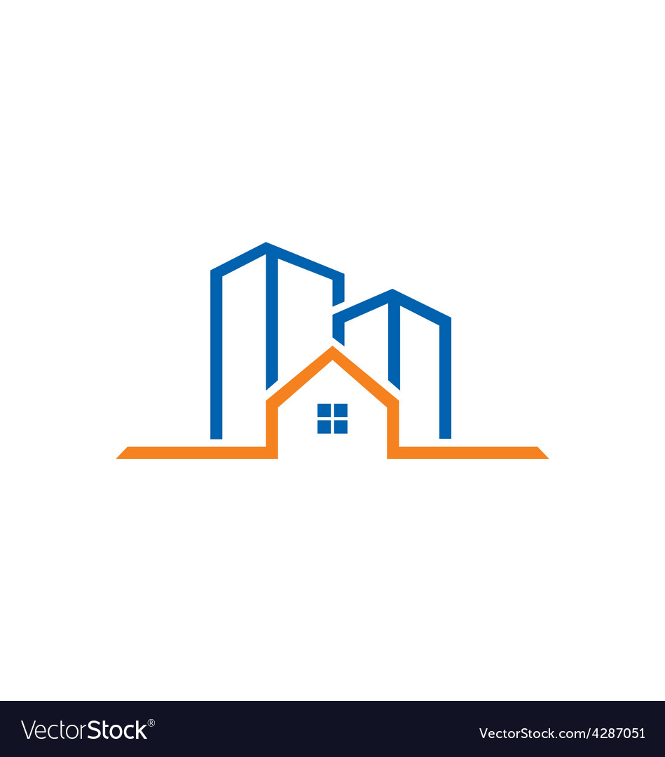 Home building line logo vector | Price: 1 Credit (USD $1)