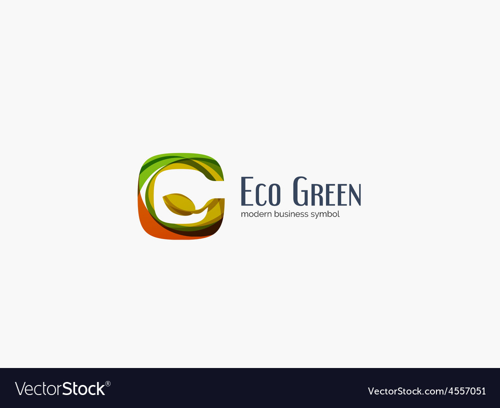 Modern g letter green eco concept company logo vector | Price: 1 Credit (USD $1)
