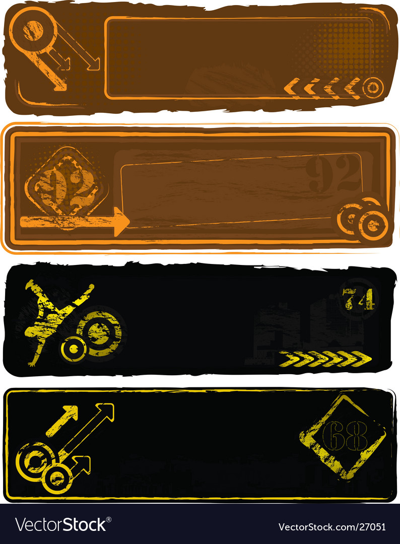 Retro style banners set vector   Price: 1 Credit (USD $1)
