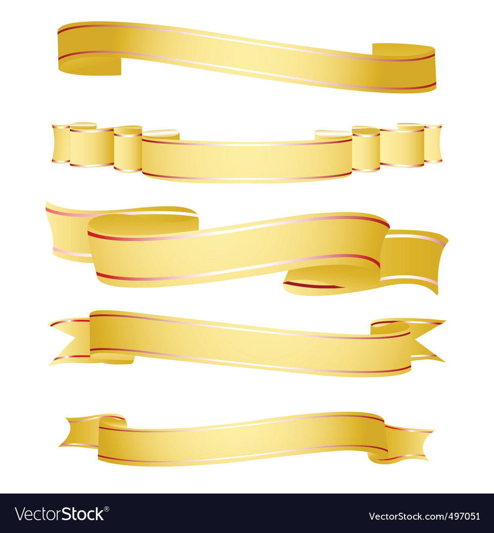 Shapes of ribbon vector