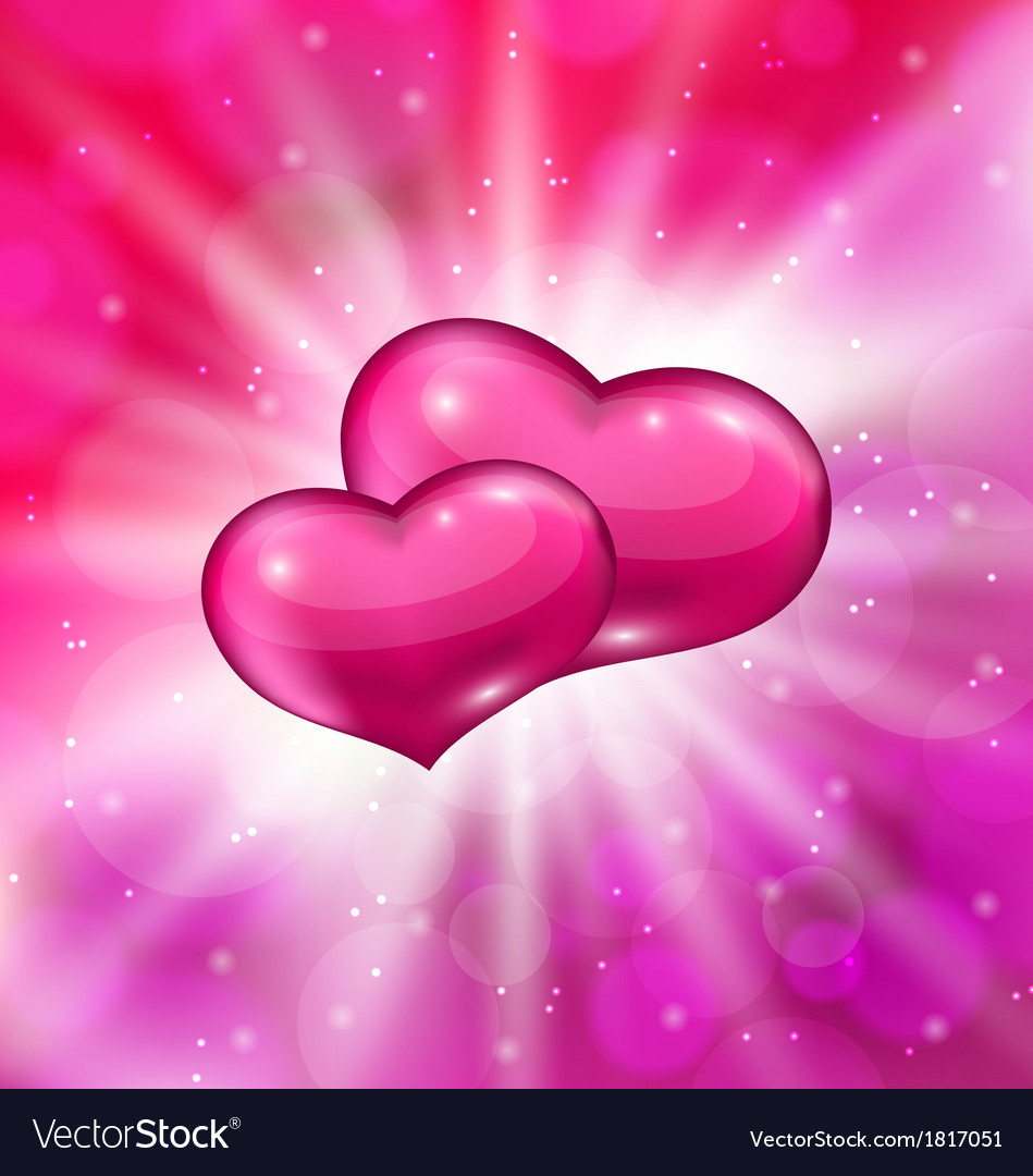 Shimmering background with beautiful hearts for vector | Price: 1 Credit (USD $1)
