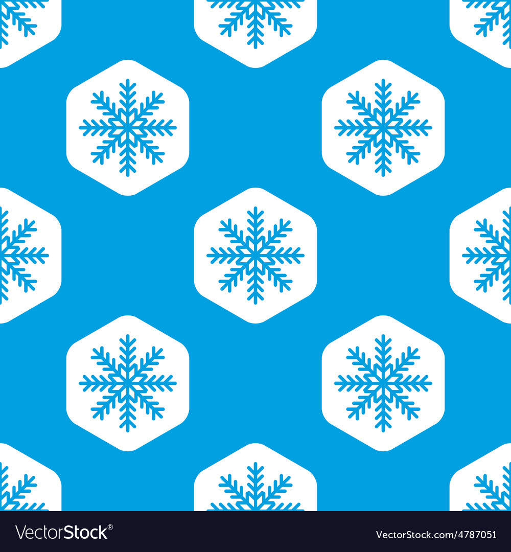 Snowflake hexagon pattern vector | Price: 1 Credit (USD $1)