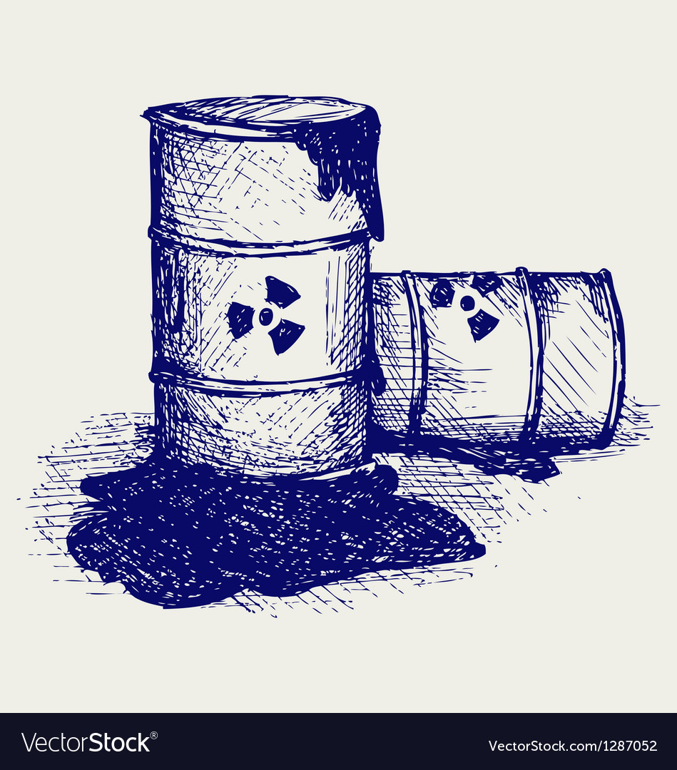 Barrels with nuclear waste vector   Price: 1 Credit (USD $1)