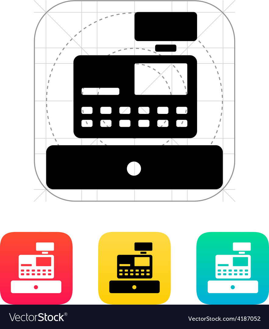 Cash register machine icon vector | Price: 1 Credit (USD $1)