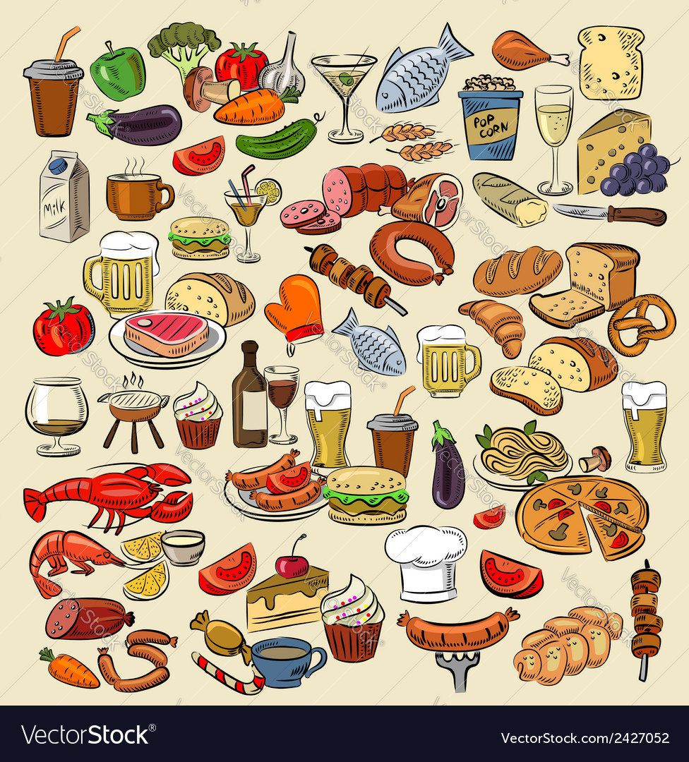 Color food vector | Price: 1 Credit (USD $1)