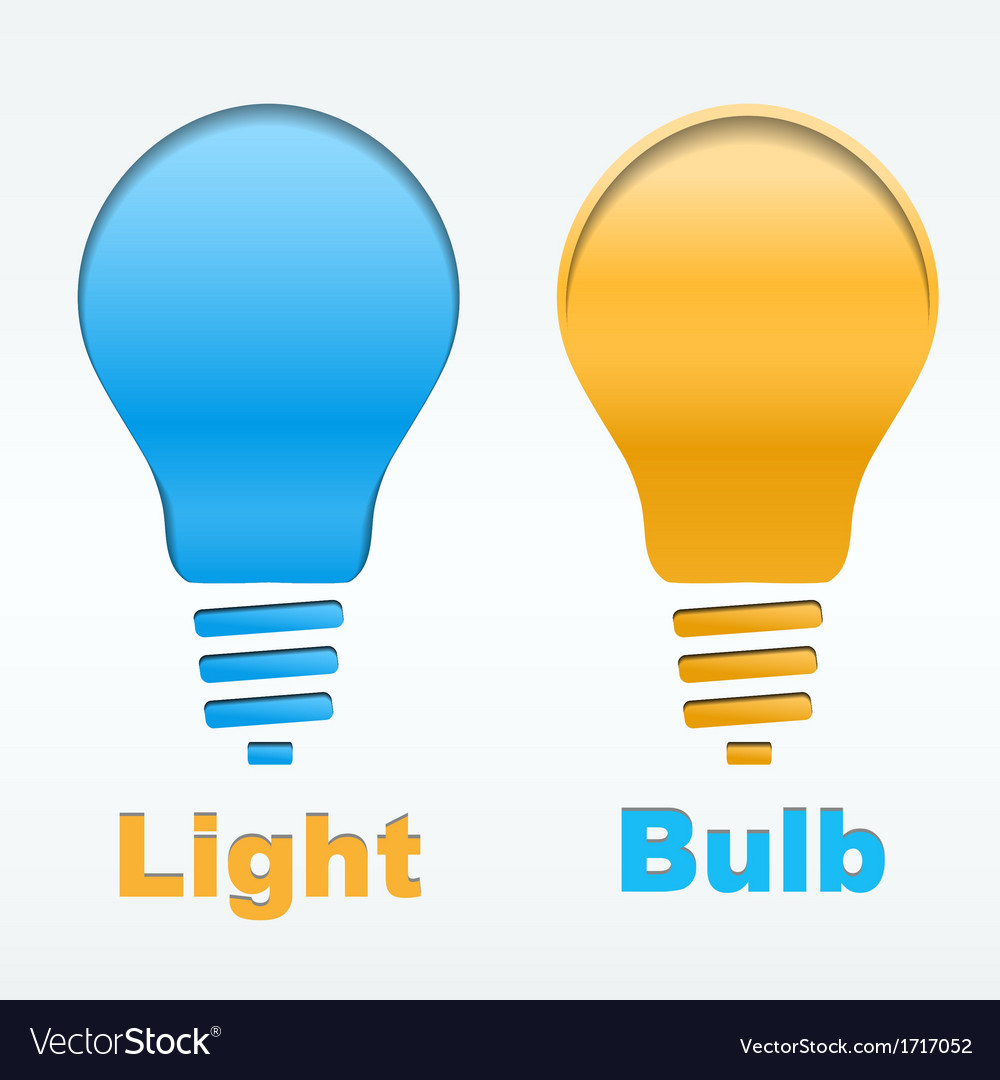 Creative light bulb label design vector | Price: 1 Credit (USD $1)