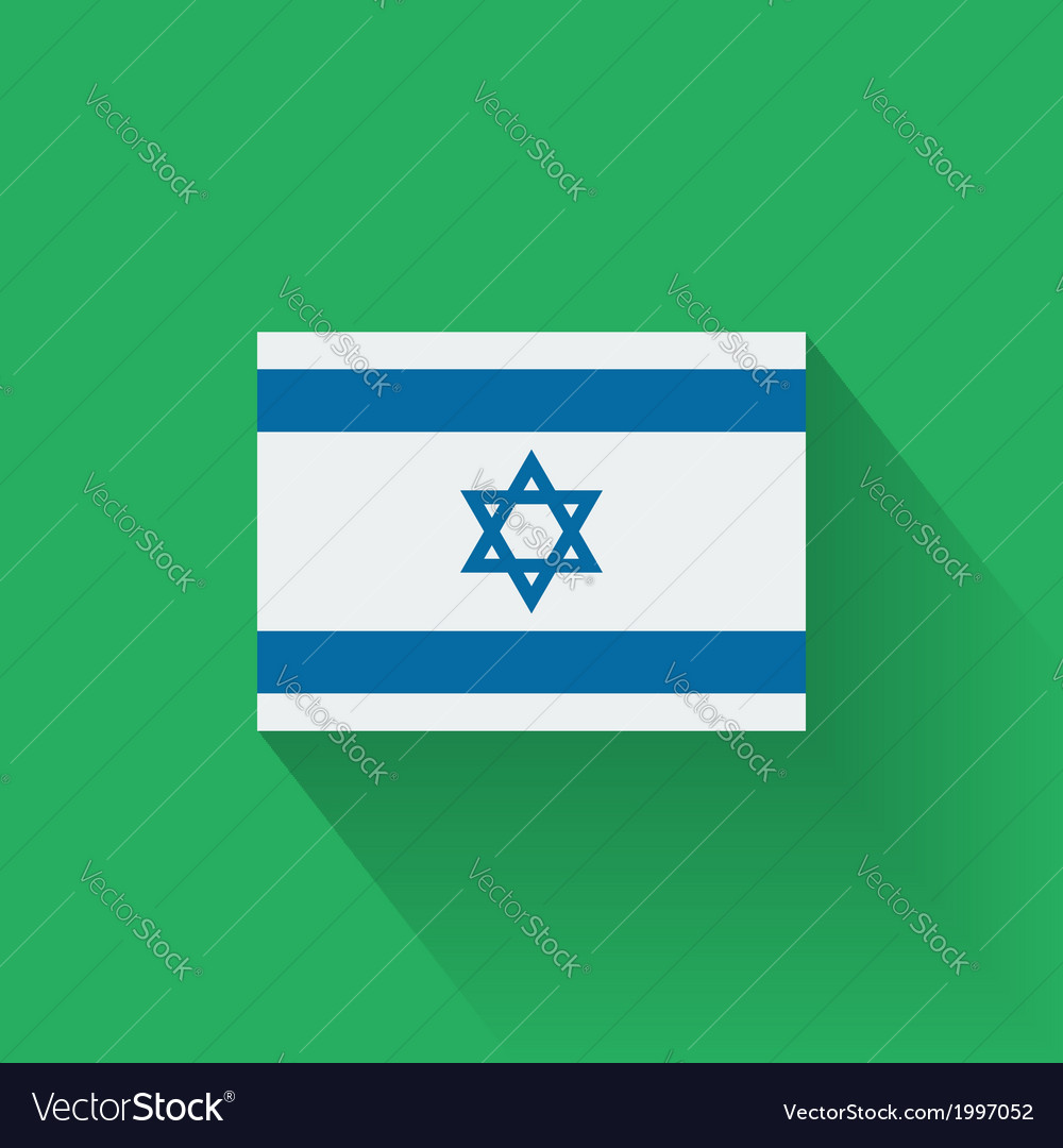 Flat flag of israel vector   Price: 1 Credit (USD $1)