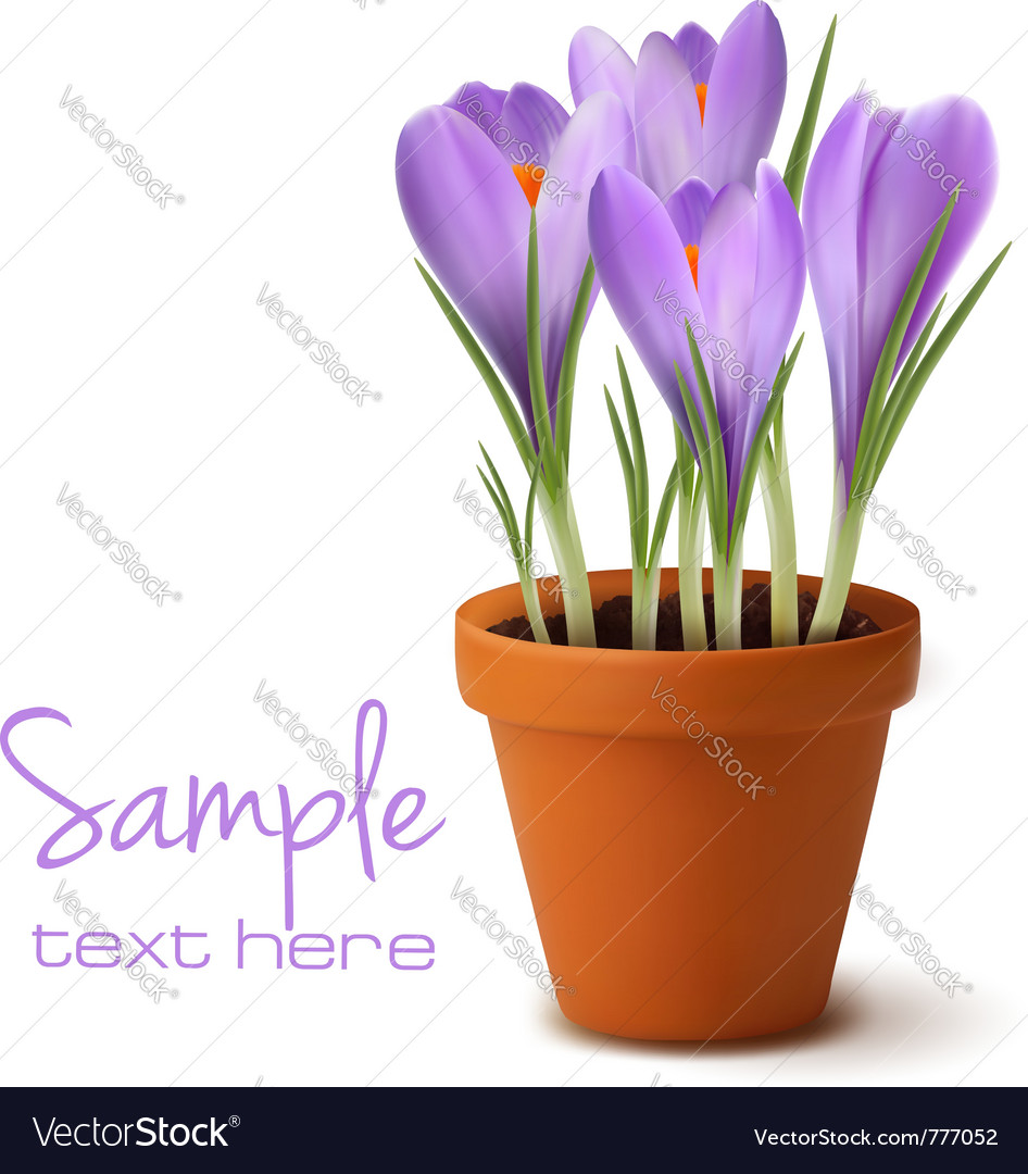 Fresh spring flowers easter background vector   Price: 3 Credit (USD $3)