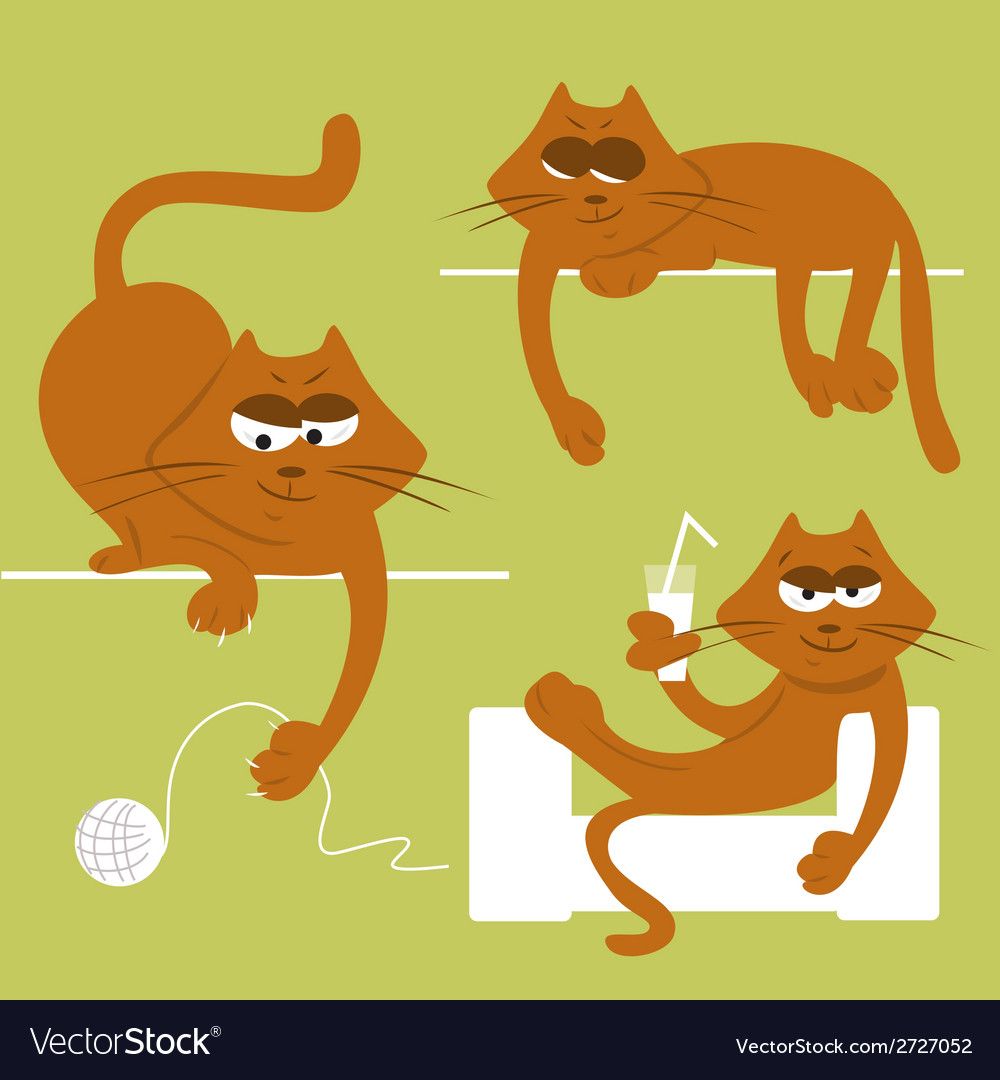 Funny cats vector | Price: 1 Credit (USD $1)
