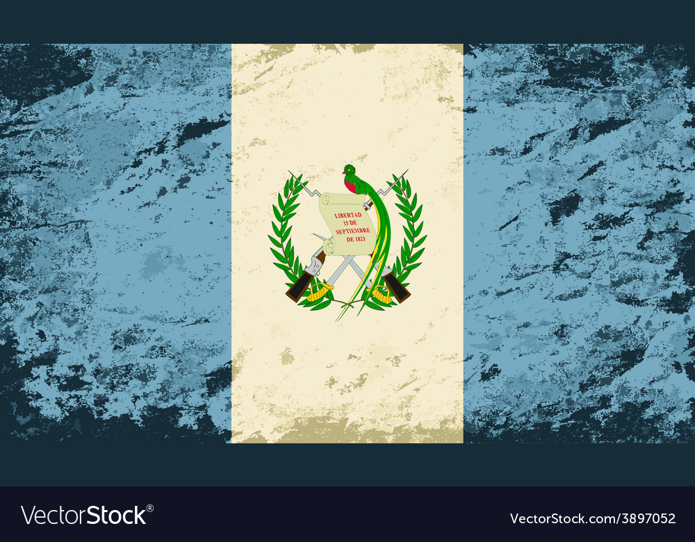 Guatemalan flag grunge background vector | Price: 1 Credit (USD $1)