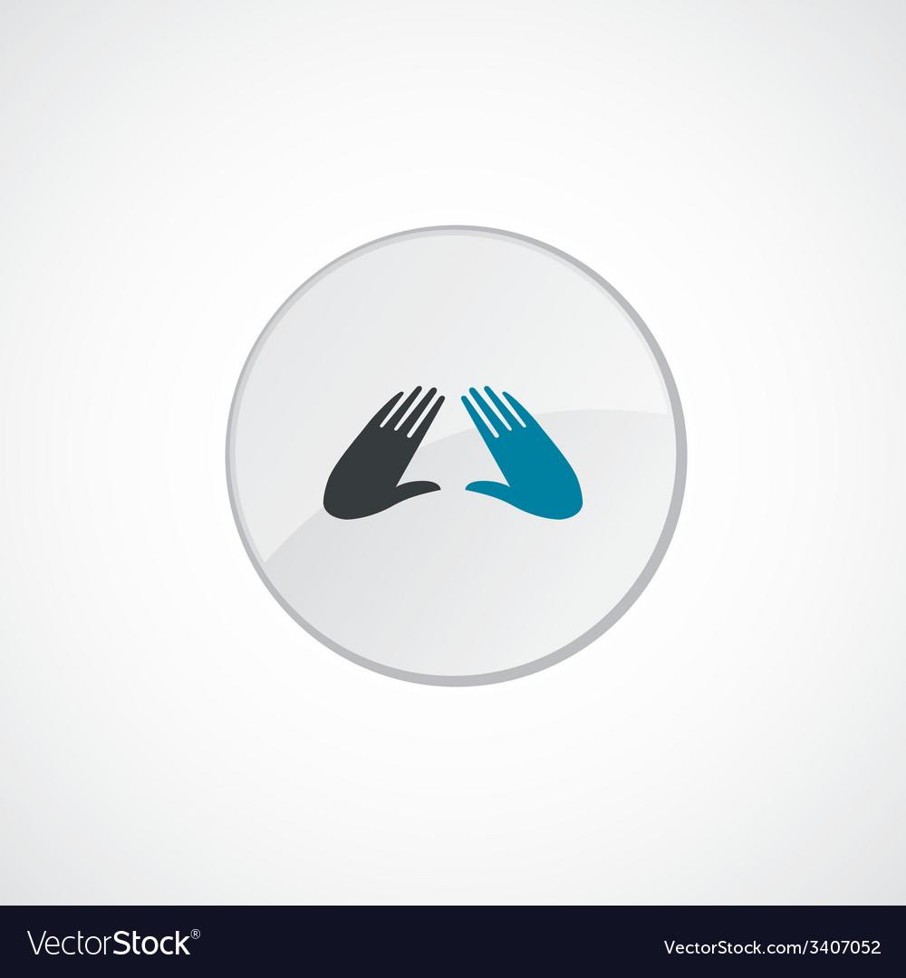 Massage icon 2 colored vector | Price: 1 Credit (USD $1)