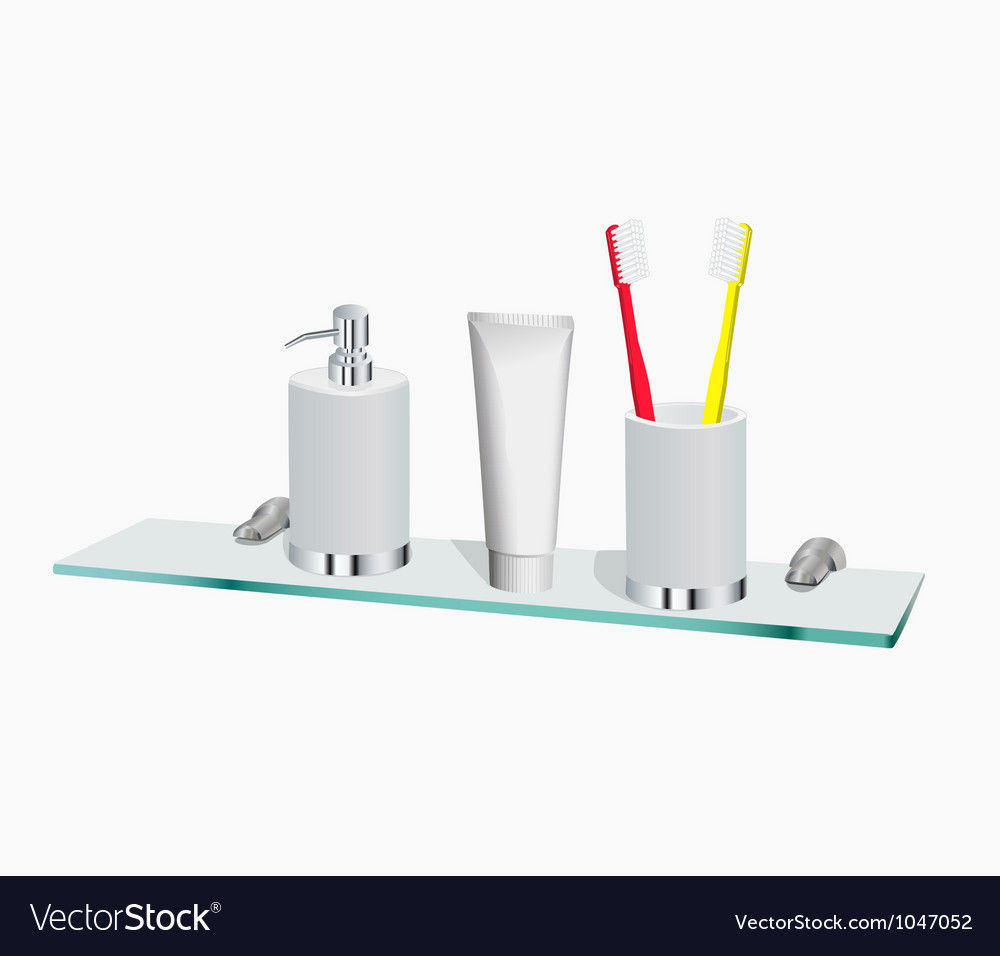 Morning hygiene objects vector | Price: 1 Credit (USD $1)