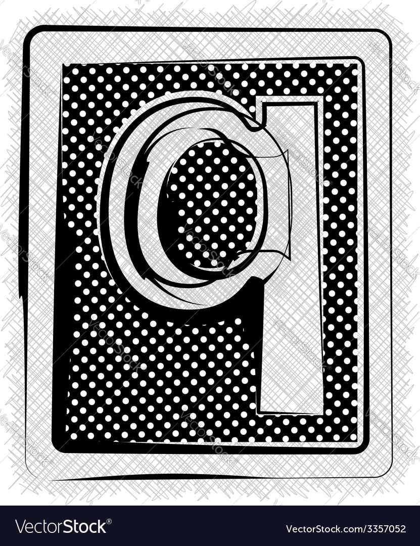 Polka dot font letter q vector | Price: 1 Credit (USD $1)