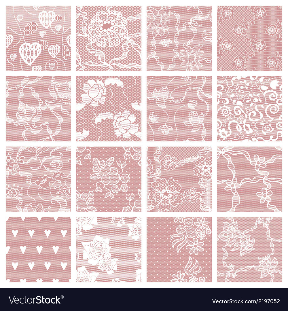 Set of lacy patterns vector | Price: 1 Credit (USD $1)