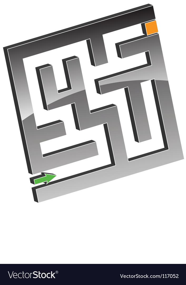 Tiny maze vector | Price: 1 Credit (USD $1)